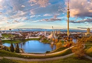 الحديقة الاوليمبية و البرج بميونخ