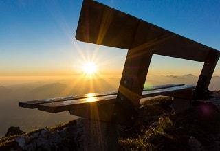 مقعد فوق احد الجبال فى سالزبورغ