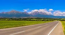 طريق السيارات بمنطقة فيسوكى تاترى بسلوفاكيا
